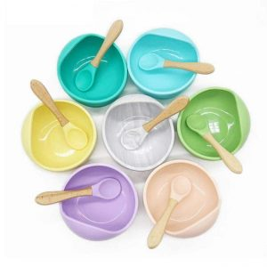 colorful silicone baby bowl