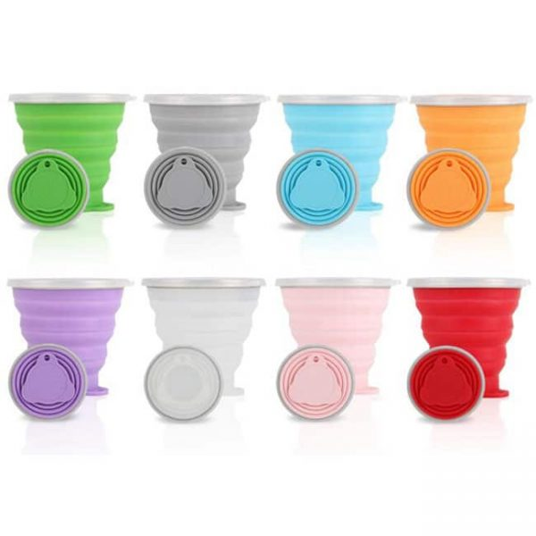8-color Collapsible Silicone Cups