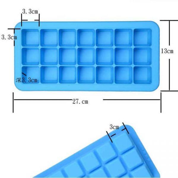 Silicone Ice Trays size