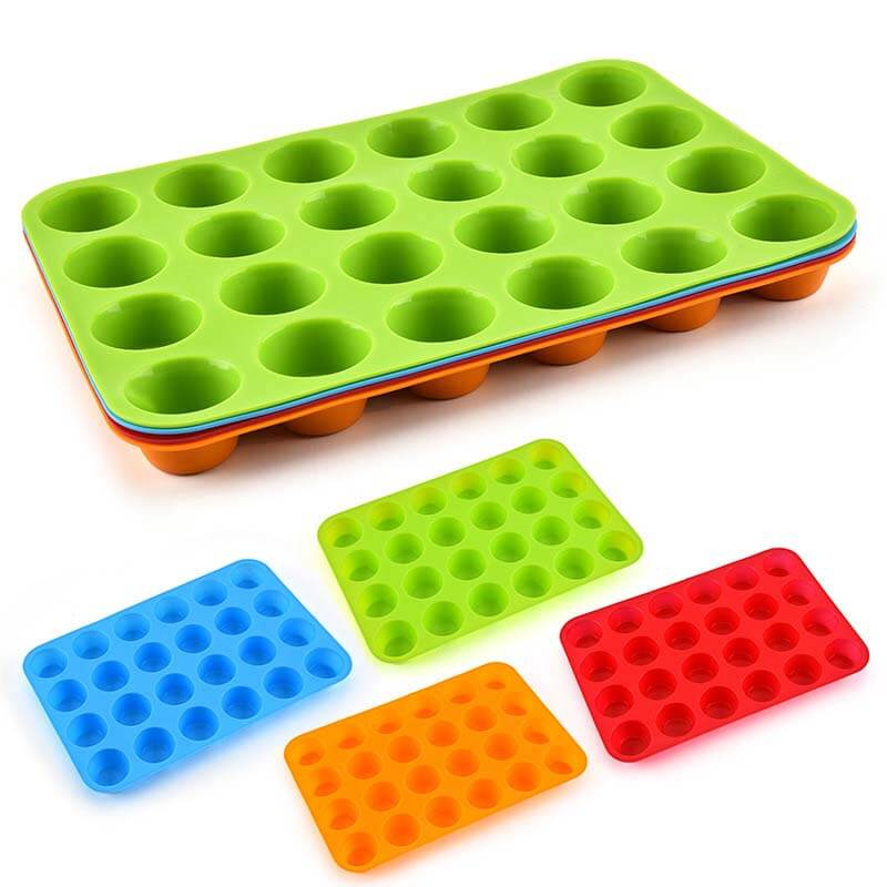 24-holes silicone muffin pans