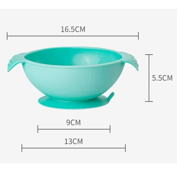 Kids Suction Silicone Bowl size