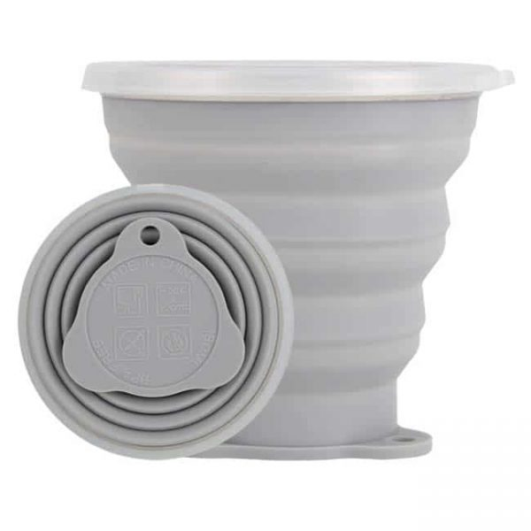 Gray Foldable Silicone Cups