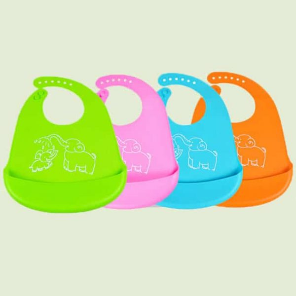 4 color Silicone Bib