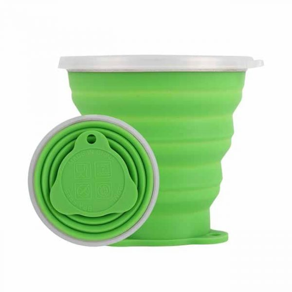Green silicone collapsible cups