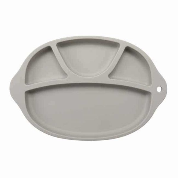 gray silicone divided Plates
