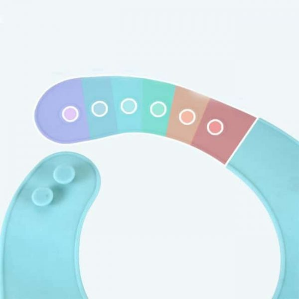 Silicone Bibs adjustable button
