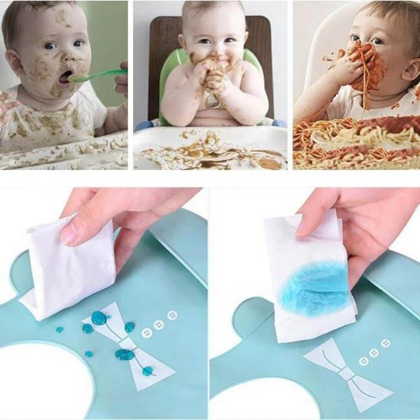 wipe clean silicone bibs