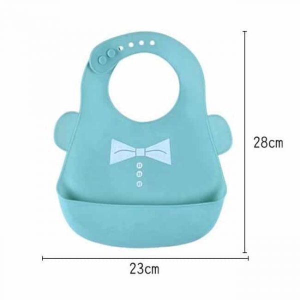Silicone Baby Bibs Size