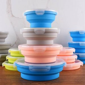 Collapsible Silicone Bowl With Lid