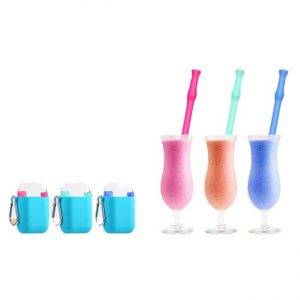 Collapsible Silicone Straws