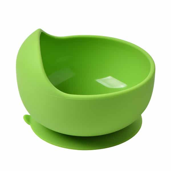 green silicone bowl