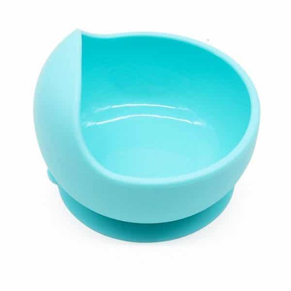 blue silicone bowl