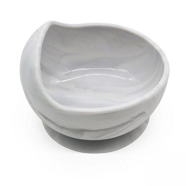 white silicone bowl