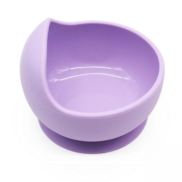 purple silicone bowl
