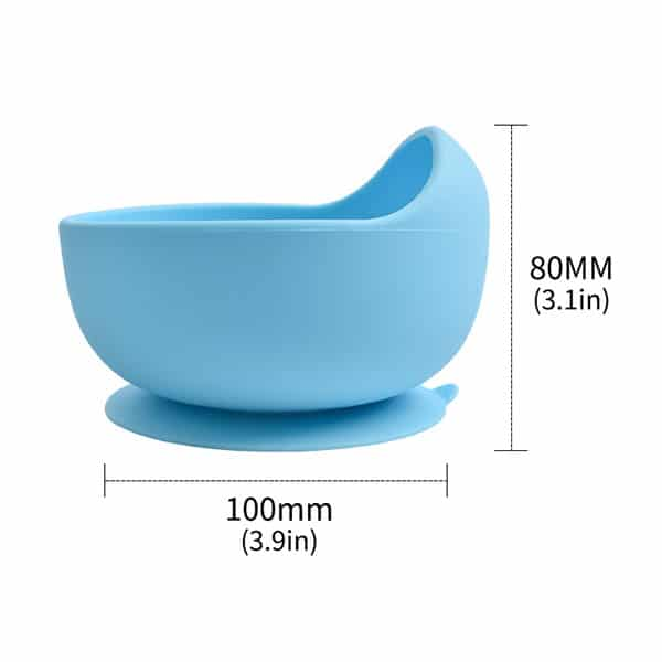 silicone bowl size