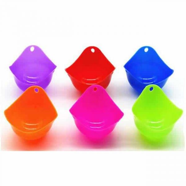 Silicone Egg Poacher Cups 6 colors