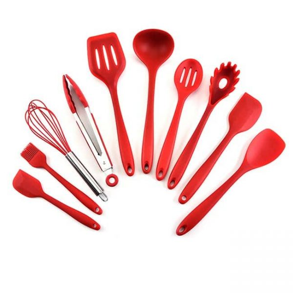 Silicone Cooking Utensil red