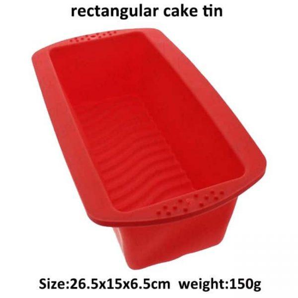 rectangular silicone cake tin size