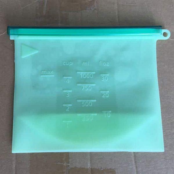 Blue Reusable Silicone Bag