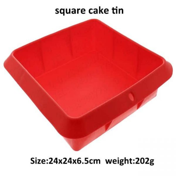 Silicone square cake tin size