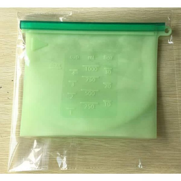 Green Reusable Silicone Bag