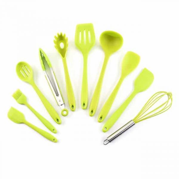 Silicone Cooking Utensil Set green