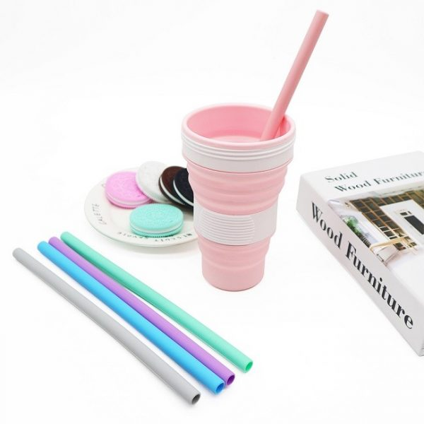 silicone straw and cup
