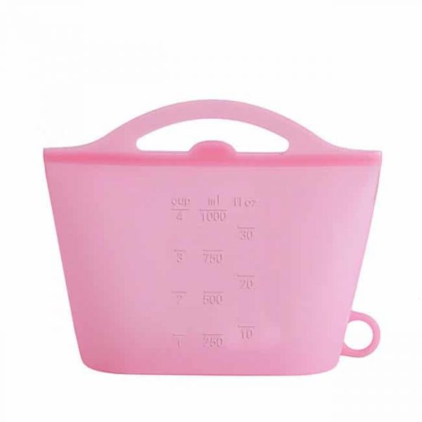 Pink silicone reusable bags