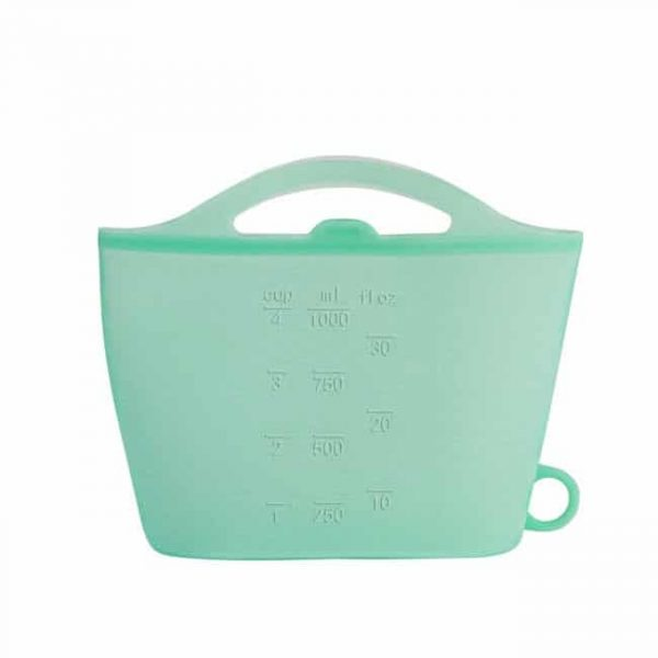 Green silicone reusable bags