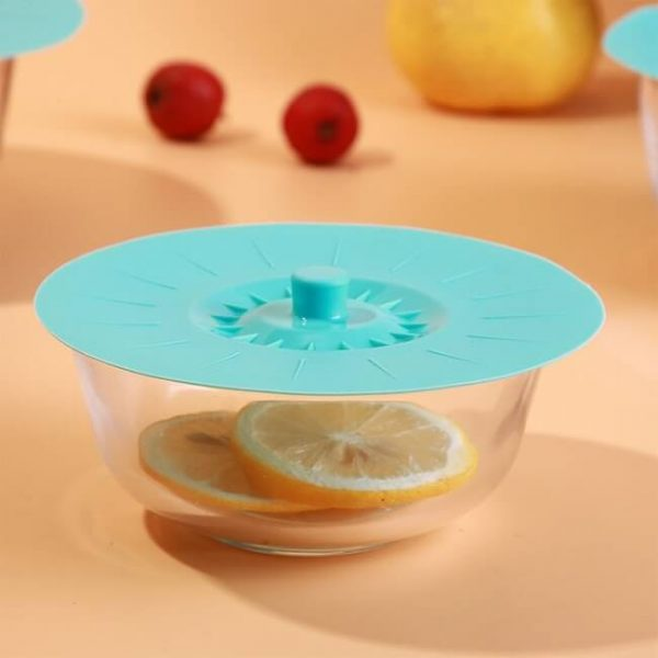 blue silicone bowl cover