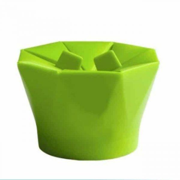 Green popcorn bowl