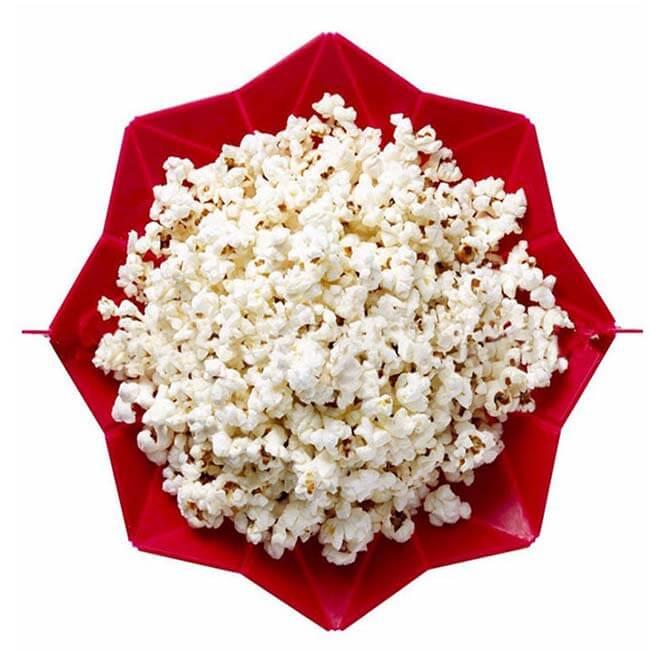 Red popcorn bowl