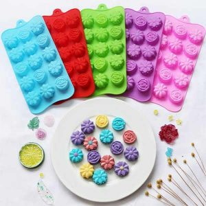 Silicone Flower Candy Molds