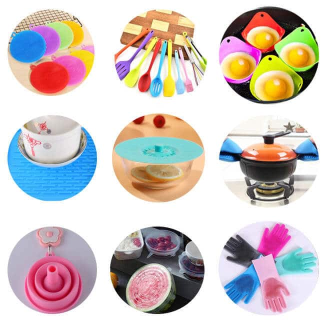 Types of silicone kitchenware