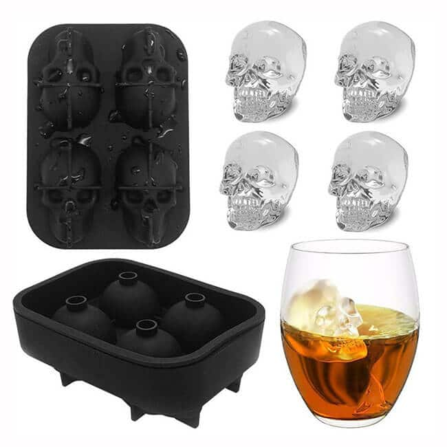 3D silicone skull ice lattice