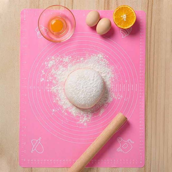 Pink silicone kneading dough pad