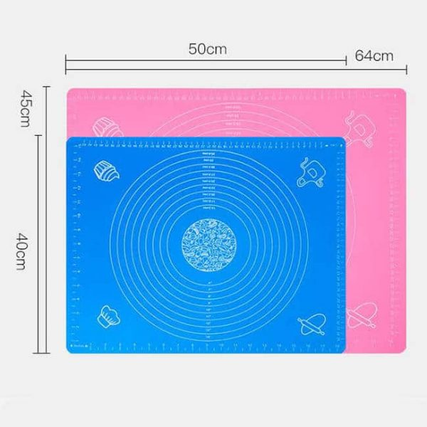 Different size silicone kneading pads