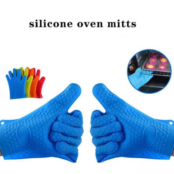Hot silicone oven mitts