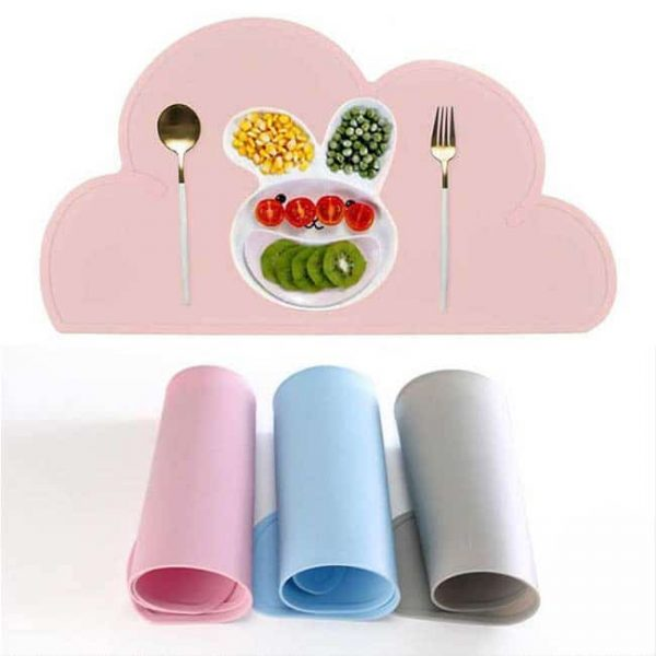 Silicone kids dinner placemat