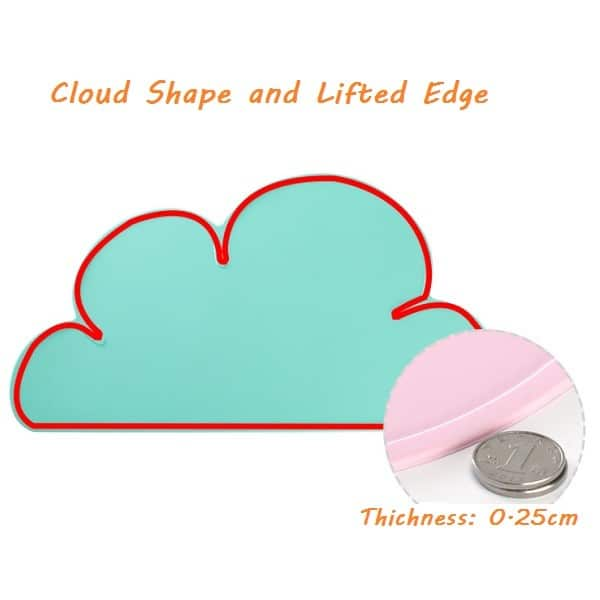 Silicone kids placemat cloud shape