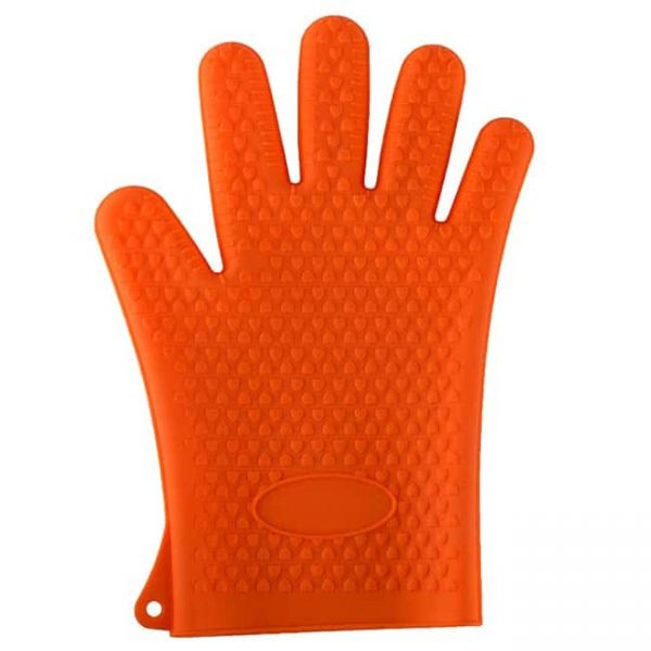 Silicone oven mitts orange color