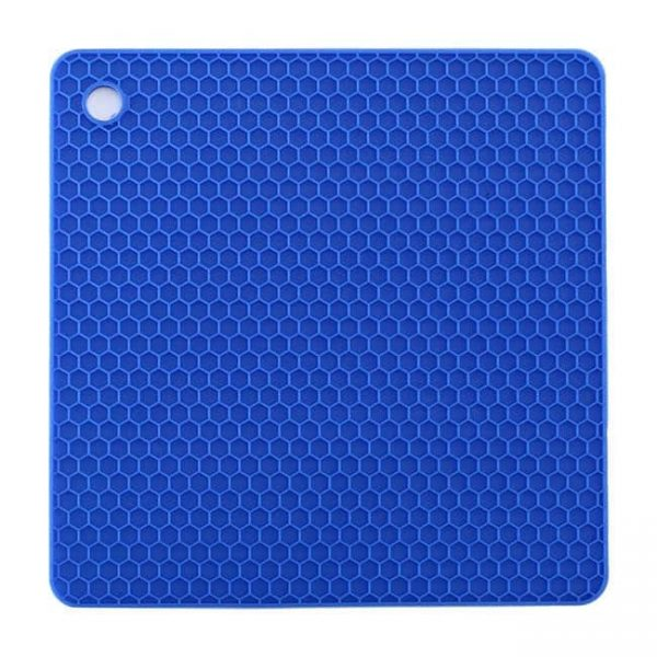 blue square silicone cushion