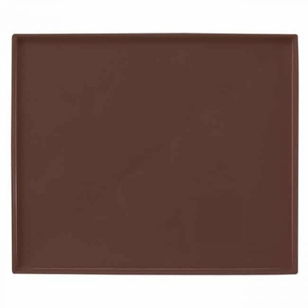 brown silicone baking tray