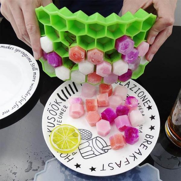 honeycomb silicone ice tray POP ice easily