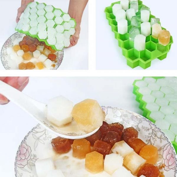 honeycomb silicone ice tray pop out jelly