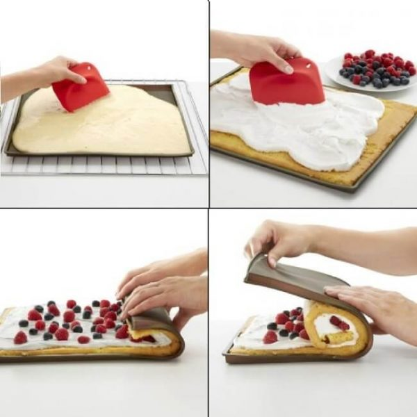 how to use silicone baking tray baking swiss roll