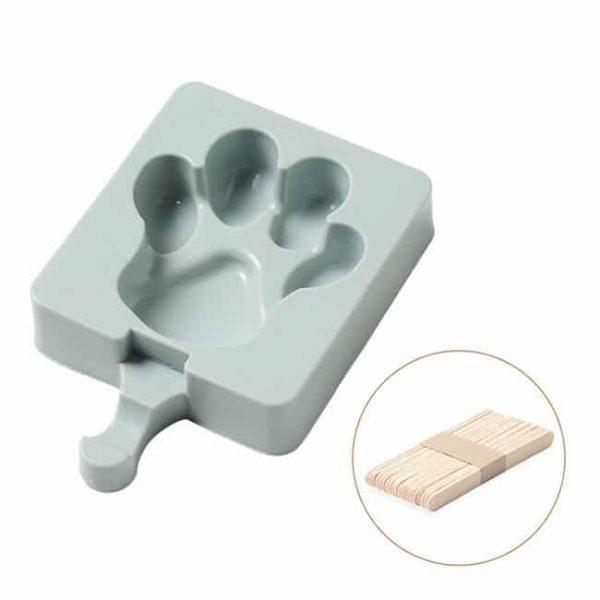 ice cream mold blue paw