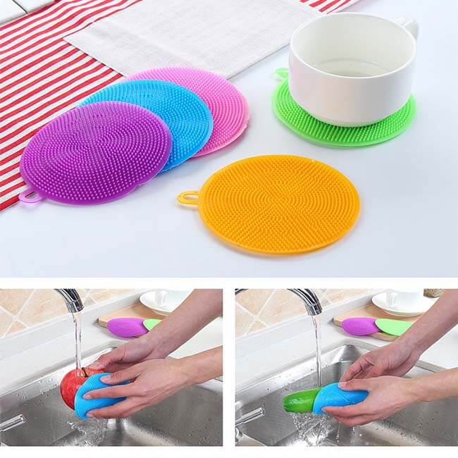 Silicone sponge is easy to clean