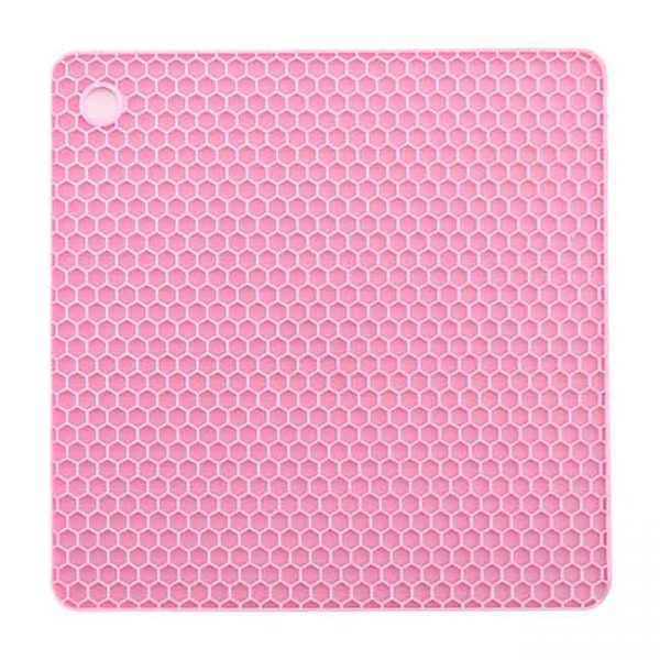 pink square silicone cushion