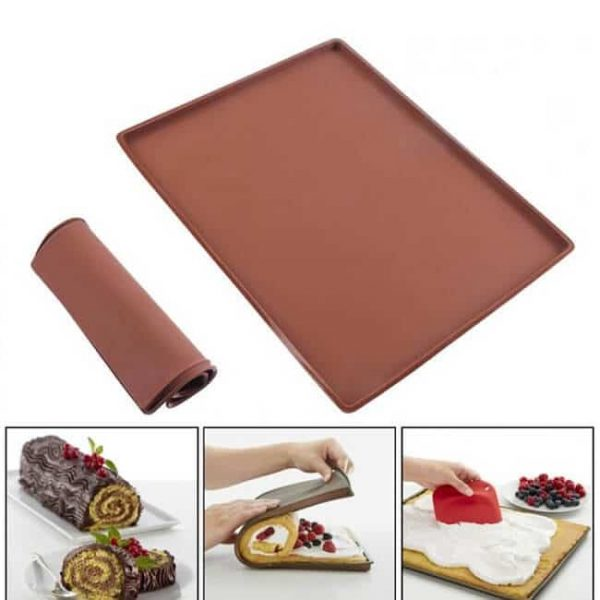 silicone baking tray for swiss roll